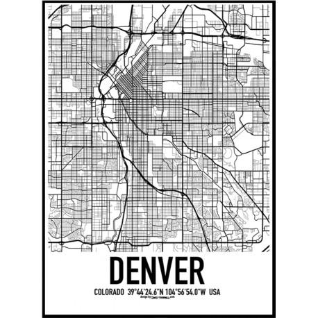 Denver Map Poster