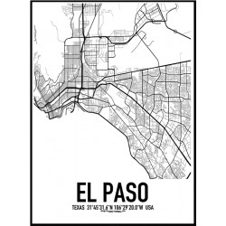 El Paso Map Poster Find your posters at Wallstars Online Shop today