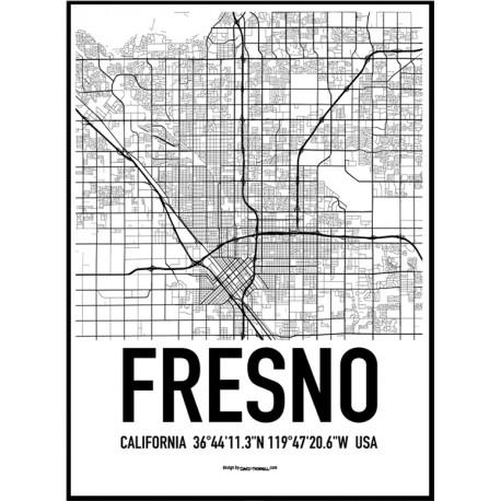 Fresno Map Poster