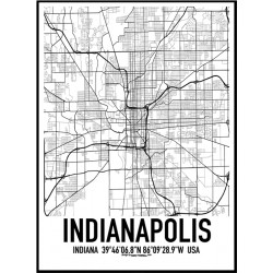 Indianapolis Map Poster