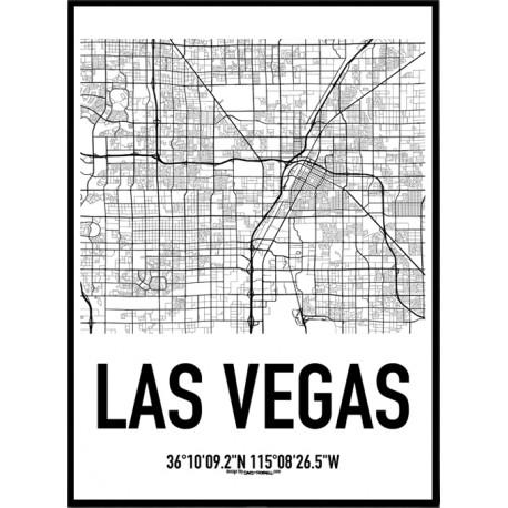 Las Vegas Map Poster