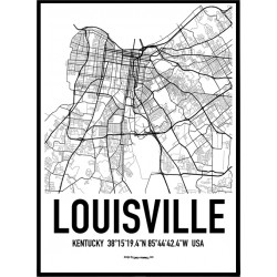 Louisville Map Poster