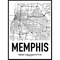 Memphis Map Poster