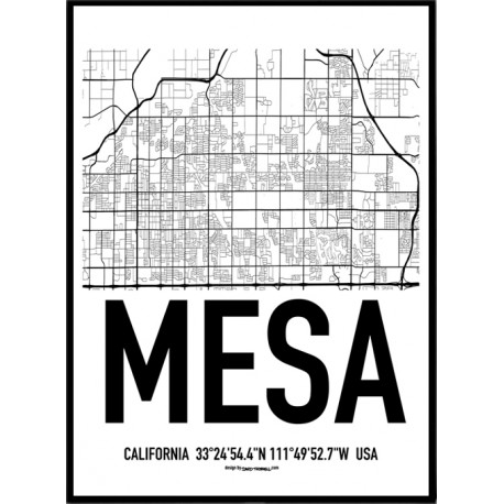 Mesa Map Poster