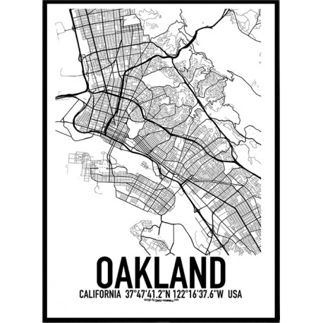 Oakland Map Poster