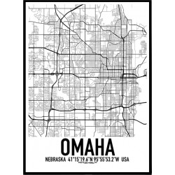 Omaha Map Poster