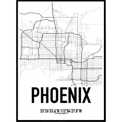 Phoenix Map Poster