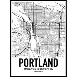Portland Map Poster
