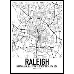 Raleigh Map Poster