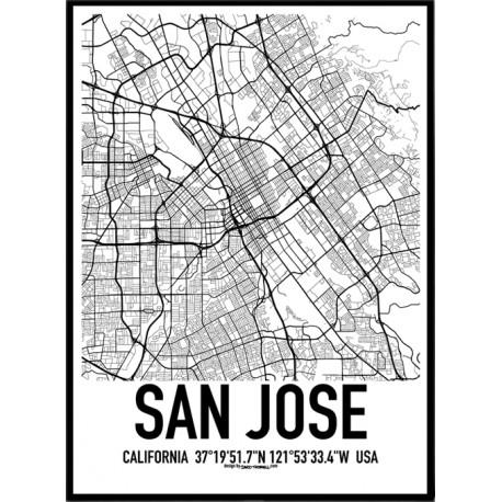 San Jose Map Poster