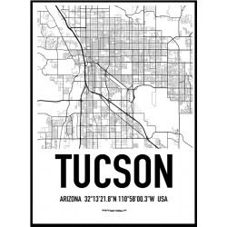 Tucson Map Poster