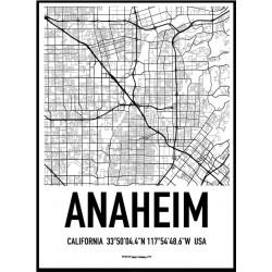 Anaheim Map Poster