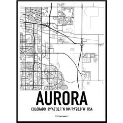 Aurora Map Poster