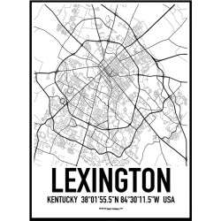 Lexington Map Poster
