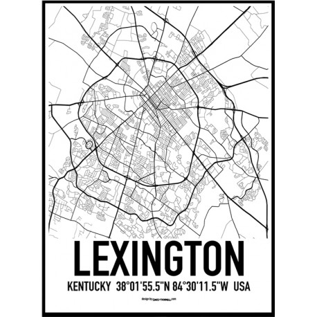 Lexington Map Poster