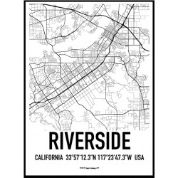 Riverside Map Poster