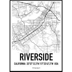 Riverside Map Poster