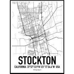 Stockton Map Poster