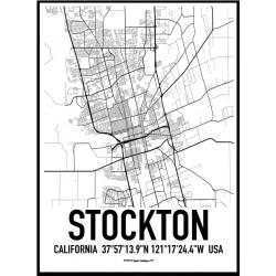 Stockton Map Poster