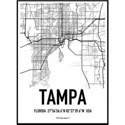 Tampa Map Poster