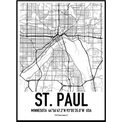 St. Paul Map Poster