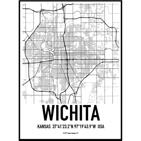 Wichita Map Poster