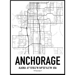 Anchorage Map Poster