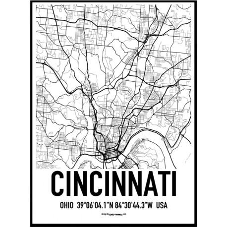 Cincinnati Map Poster