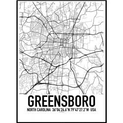Greensboro Map Poster
