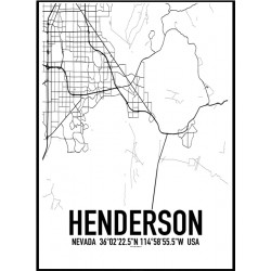 Henderson Map Poster