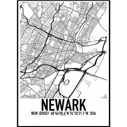 Newark NJ Map