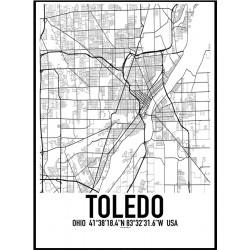Toledo Map Poster