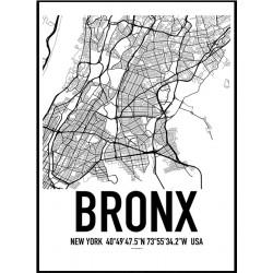 Bronx Map Poster