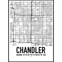 Chandler Map Poster