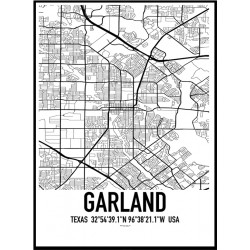 Garland Map Poster