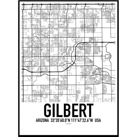 Gilbert Map Poster