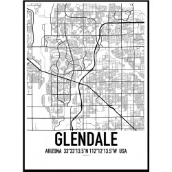Glendale Map Poster