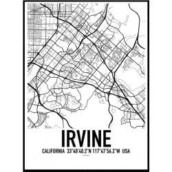 Irvine Map Poster
