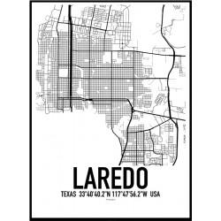 Laredo Map Poster