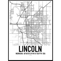 Lincoln Map Poster
