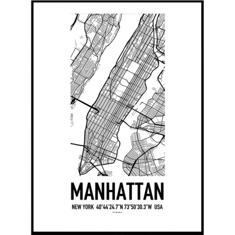 Manhattan Map Poster Find Your Posters At Wallstars Online Shop Today