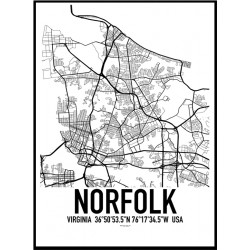 Norfolk Map Poster