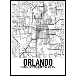 Orlando Map Poster