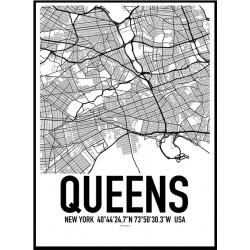 Queens Map Poster