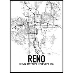 Reno Map Poster
