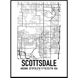Scottsdale Map Poster