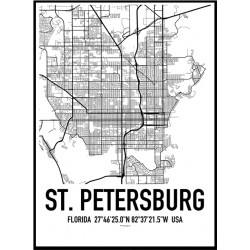 St. Petersburg Map