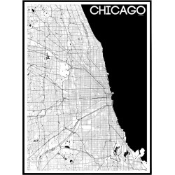 Map Chicago Poster