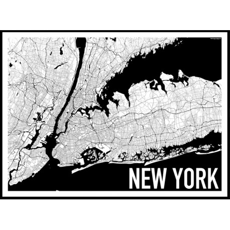 map new york poster find your posters at wallstars online shop today. Black Bedroom Furniture Sets. Home Design Ideas