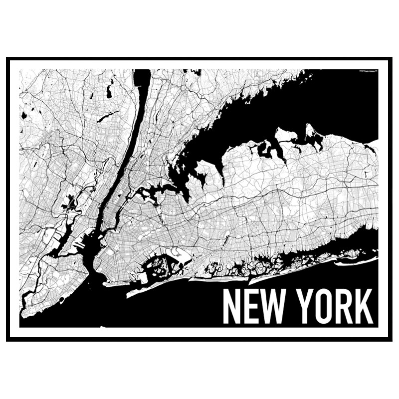 map new york poster find your posters at wallstars online. Black Bedroom Furniture Sets. Home Design Ideas
